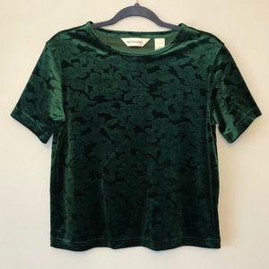 🍀Bechamel Green Velvet Top🍀
